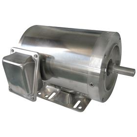 Totally Enclosed Non-Ventilated Washdown Motor: TENV, Three Phase, Base/Face Mounting, 3/4 hp Output Power, 5/8 in Shaft Dia