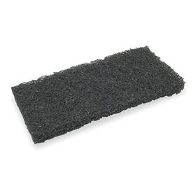Dust Mop Head: Cut End, 10 in Lg, 4 1/2 in Wd, Washable Poly Blend, Black, Color Coded, For 15F540/6XE76, Washable, 5 PK