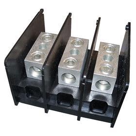 Power Distribution Block: 3 Circuits, Open, 1,000V AC/DC, 310 A Current, 1 Inputs per Circuit, 1 Outputs per Circuit