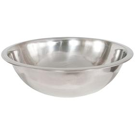 Standard Mixing Bowl: Stainless Steel, 8 qt Capacity, 13 1/4 in OD, 5 1/8 in Dp