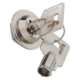 Cam Lock: Nickel Plated, Die Cast, 5/8 in Cam Wd, 1 9/16 in Cam Lg, For 1/8 in Max Door Thickness, Offset/Straight