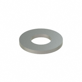 Flat Washer: 316 Stainless Steel, For M4 Screw Size, 4.3 mm ID, 9 mm OD, 0.800 mm Thickness, 50 PK