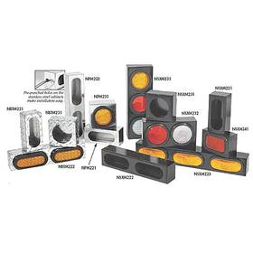 Vehicle Light Mounting Box: 18 in Overall Lg, 6 in Overall Ht, Truck & Trailer Light Box, Truck & Trailer Applications
