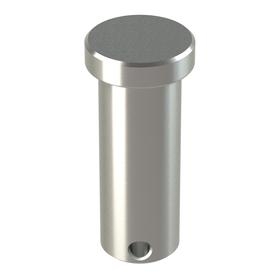 Clevis Pin: Stainless Steel, 5/8 in Shank Dia, Drilled, 2 1/4 in Overall Lg, ASME B18.8.1, 18 Haz Material Indicator