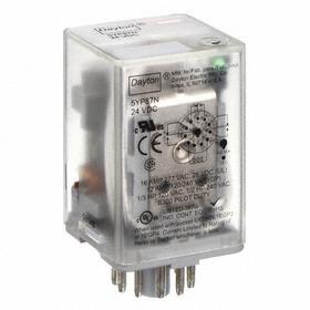 Socket Mount Relay: 3PDT Pole-Throw Configuration, 11 Terminals, 11-Pin Terminal, 24V DC Control Volt, B Socket, Plug In