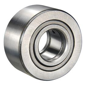 INA Yoke Roller: Metric, Steel, Open, Crowned, 20 mm Bore Dia, 47 mm Roller OD, 25 mm Roller Wd, Cylindrical Roller