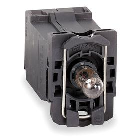 Schneider Electric Lamp Module with Bulb: For BA9 Modules, 240V AC, 2.16 in Overall Lg, Includes Bulb, Clear