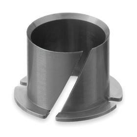 Clip Sleeve Bearing: Inch, Polymer, 5/8 in Bore Dia, 7/16 in Overall Lg, 11/16 in OD, 0.029 in Flange Thickness, 5 PK