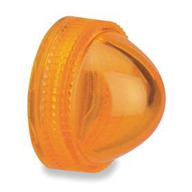 Schneider Electric Pilot Light Lens: LED/Incandescent, Amber, 30 mm Compatible Panel Cutout Dia, For Schneider KP, KT, SKT & SKP Series