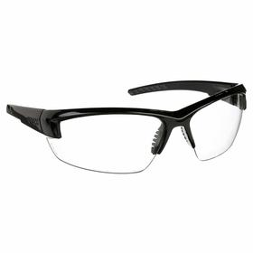 Honeywell Safety Glasses: Clear, Wraparound Frame, Scratch Resistant, Black/Gray, ANSI Z87.1+/ANSI Z87.1-2010/CSA Z94.3