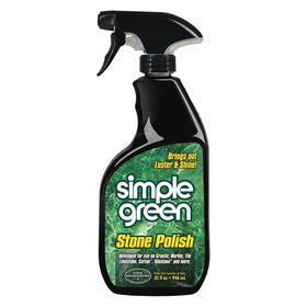 Simple Green Stone Polisher: Ready to Use, 32 fl oz Size, Trigger Spray Bottle