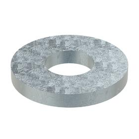 Oversized Flat Washer: Steel, Zinc Plated, Through Hardened Material Grade, For 1/4 in Screw Size, 0.219 in ID, 100 PK