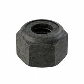 "Nylon Insert Locknut: Steel, Plain, Grade 8 Material Grade, 5/16""-18 Thread Size, 33/64 in Wd, 23/64 in Ht, 100 PK"