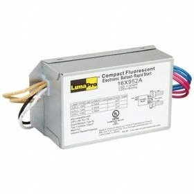 CFL Ballast: For CFL, Electronic, Rapid, PLC at 13 W/PLT at 13 W, 32° F Min Starting Temp, 26 W Input Watt