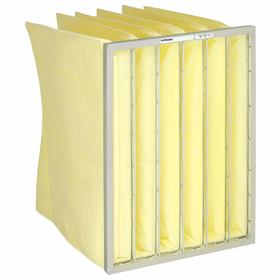Pocket Air Filter: Commercial/Educational/Government/Healthcare/Manufacturing, 95 % Arrestance, Yellow, Synthetic, 4 PK
