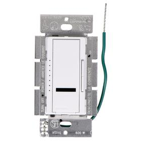 Lutron Wireless Dimmer Switch: For Halogen/Incandescent, Rocker Dimmer, 120V AC, 4.69 in Overall Lg, White, Infrared
