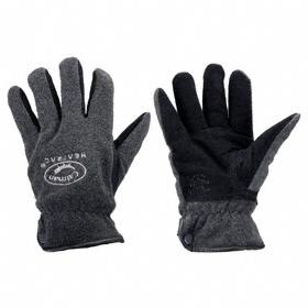 Cold-Resistant Glove: Mechanics Glove, L Size, 0° F Min Temp, Knit Cuff, Deerskin, Fleece, Black/Gray, 1 PR