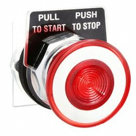 Schneider Electric Emergency Stop Push Button Operator: Mushroom Operator, Non-Illuminated, Maintained, Red, Metal, 30 mm Compatible Panel Cutout Dia