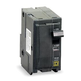 Schneider Electric Plug-In Miniature Circuit Breaker: 2 Poles, Std, 50 A Current Rating, 240V AC Volt Rating