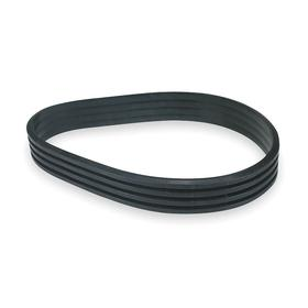 Banded V-Belt: B Belt, 4 Ribs, 4/B158 Industry, 161 3/4 in Outside Lg, 5.40625 in Min Pulley Dia, 2 11/16 in Top Wd