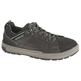 Dress-Casual Work Shoe: Women, Steel, Pigmented Leather, Dark Gray/Mint, Compression/Electrical Hazard/Impact, Electrical Hazard Rated, 1 PR