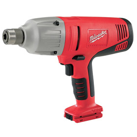 Milwaukee Heavy Duty Cordless Impact Wrench: 28V, 7/16 in Drive Size, Hex, 325 ft-lb Max Working Torque, 7.6 lb Tool Wt