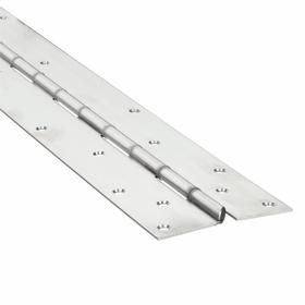 Heavy Duty Load Rated Piano Hinge: Mortise, Non-Removable Pin, Satin, Stainless Steel, 79 in Overall Lg, 3/16 in Pin Dia