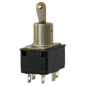 Eaton Toggle Switch: 3 Positions, 20 A @ 125V AC Switch Rating, 1 Poles, On-Off-On, SPDT Pole-Throw Configuration, Metal