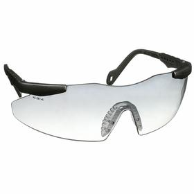 Smith & Wesson Safety Glasses: Clear, Frameless Frame, Scratch Resistant, Silver, ANSI Z87.1+2010, Nylon, Adj Temples