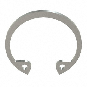 Internal Retaining Ring: Stainless Steel, Passivated, HO-68 Ring, For 11/16 in Bore Dia, For 0.732 in Groove Dia, 5 PK