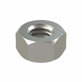 "Hex Nut: 18-8 Stainless Steel, 5/16""-18 Thread Size, 1/2 in Wd, 9/32 in Ht, 50 PK"