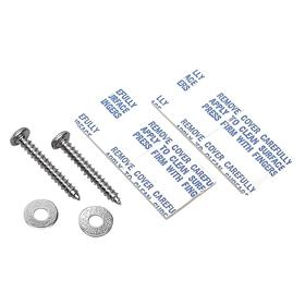 Brady Sign Mounting Hardware: For Wall-Mount Sign Holders, Steel, (2) Adhesive Pads/(2) Screws/(2) Washers