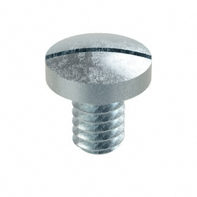 "Pan Head Machine Screw: Steel, Zinc Plated, Slotted, 1/4""-20 Thread Size, 3/8 in Shank Lg, 100 PK"