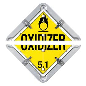 Labelmaster DOT Vehicle Placard: Corrosive/Dangerous/Flammable Gas/Flammable Liquid/Non-Flammable Gas/Oxidizer 5.1/Poison/Radioactive