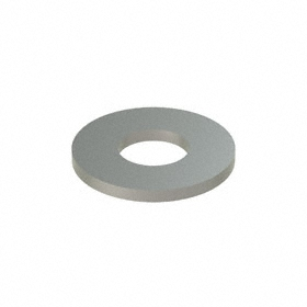 Flat Washer: 18-8 Stainless Steel, For 3/8 in Screw Size, 0.438 in ID, 0.875 in OD, 0.083 in Thickness, 50 PK