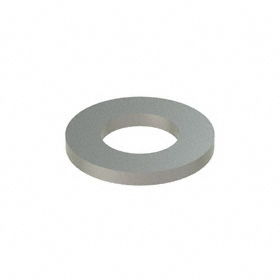 Narrow Flat Washer: 18-8 Stainless Steel, For M5 Screw Size, 5.3 mm ID, 10 mm OD, 1.000 mm Thickness, 50 PK
