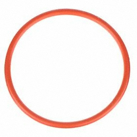 Heat-Resistant Silicone Food & Beverage O-Ring: 137 AS568 Dash, Red, -65° F Min Op Temp, 400° F Max Op Temp, 70 Shore A, 10 PK