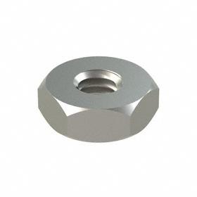 Machine Screw Hex Nut: 18-8 Stainless Steel, 8-32 Thread Size, 11/32 in Wd, 9/64 in Ht, 100 PK