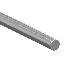 Straight Linear Shaft: Inch, Steel, 1566 Material Grade, Case Hardened, Plain, 1/2 in Dia, 24 in Overall Lg