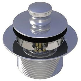 Tub Drain: 1 1/2 in Pipe Size, 1 1/4 in Hot, Threaded, Lift & Turn Stopper