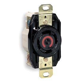 Hubbell NEMA Turn-Locking Female Receptacles' Corrosion Resistant: 4 Contacts, L14-30 NEMA Configuration, 120/250V AC