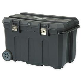 Stanley Tool Box: Structural Foam, 23 1/4 in Overall Ht, 22 3/16 in Overall Wd, 37 1/2 in Overall Lg, Black