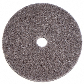 3M Finishing Wheel for Portable Tools: Medium Density Grade, 3 in Wheel Dia, 1/4 in Face Wd, 3/8 in Center Hole Dia