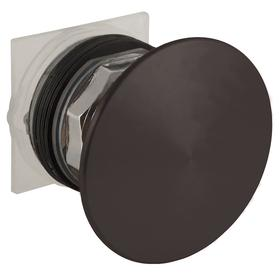 Schneider Electric Emergency Stop Push Button Operator: Mushroom Operator, Non-Illuminated, Maintained, Black, Metal, Screw Clamp Terminal