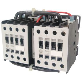 GE IEC Magnetic Contactor: 3 Poles, Single/Three Phase, 34 A Current Rating, 240V AC Control Volt, Reversing