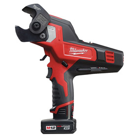 Milwaukee Cordless Cable Cutter: 12V, 600 MCM Copper/750 MCM Aluminum Max Material Thickness, Battery Incl, Li-Ion