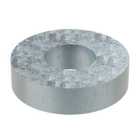 Oversized Flat Washer: Steel, Zinc Plated, Low Carbon Material Grade, For No. 10 Screw Size, 0.219 in ID, 1 in OD, 100 PK