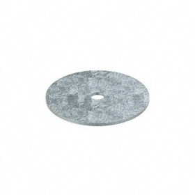 Oversized Flat Washer: Steel, Zinc Plated, Low Carbon Material Grade, For 5/16 in Screw Size, 0.344 in ID, 5 PK