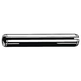 Slotted Spring Pin: Steel, Plain, 1/4 in OD, Fits 0.25 Min Hole Dia, Fits 0.256 Max Hole Dia, 5/8 in Overall Lg, 50 PK