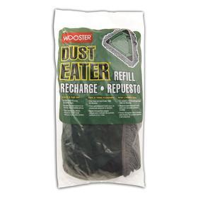 Wooster Dust Mop Head: Tie On, Cut End, 16 in Lg, 16 in Wd, Gray, Green, Vinyl, 18 Haz Material Indicator